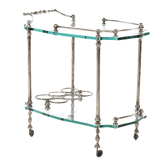 Exquisite French Art Deco Wrought Iron Bar Cart - Image 1 of 4