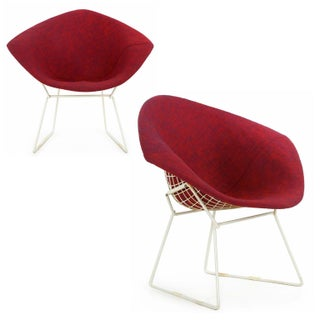 Gorgeous 1960s Bertoia for Knoll Diamond Chairs - A Pair