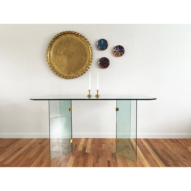 Beveled Glass Dining Table - Image 8 of 8