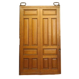 Raised Panel Oak Pocket Doors