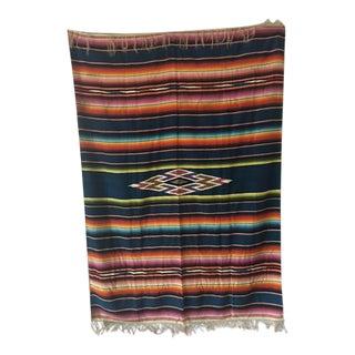 Vintage Mexican Serape Wool Blanket