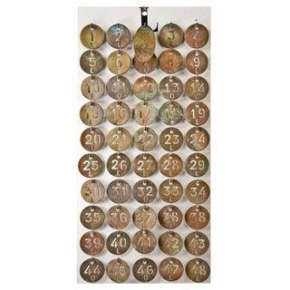 Le Lido Paris Brass Coat Check Tags- Set of 50