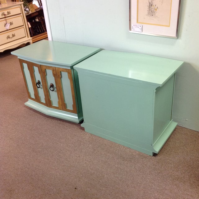 Vintage Painted Wood Side Tables - a Pair - Image 7 of 8
