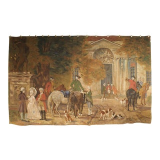 Large Antique Canvas Painting from France, Early 1900s