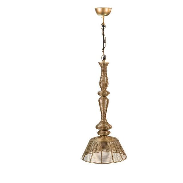 Image of Sarreid Ltd 'Temple' Aluminum Pendant Lights - A Pair
