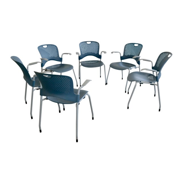 Herman Miller Caper Stacking Office Chairs - S/6 - Image 1 of 7