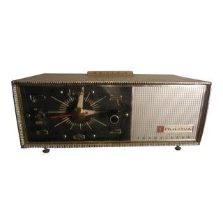 Bulova Vintage 1950's Chrome and Black Clock Radio