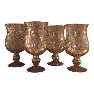 Mercury Glass Vases - Set of 4