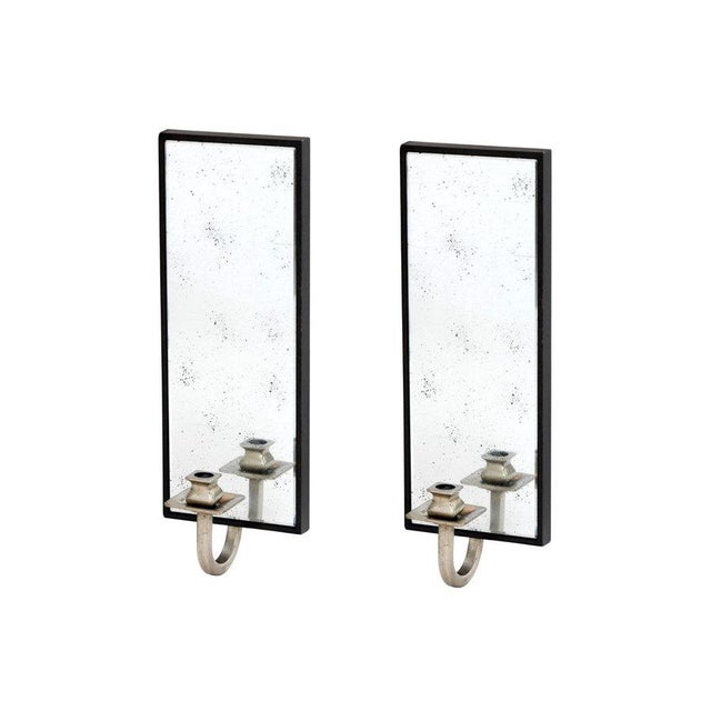 Art Deco Candleholder Wall Sconces - Pair - Image 2 of 2