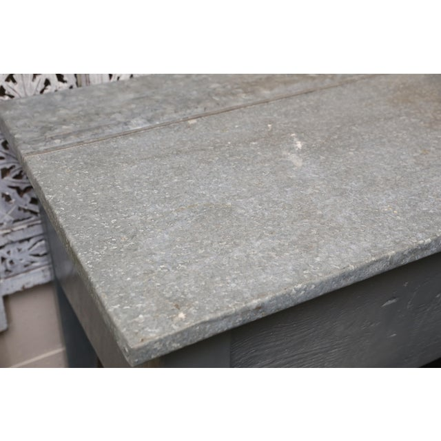 Image of Industrial Zinc Top Console Table