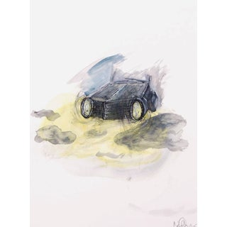 Clif Claycomb Foggy Headlight Watercolor Painting