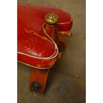 Image of Red Leather Camel Saddle Stools