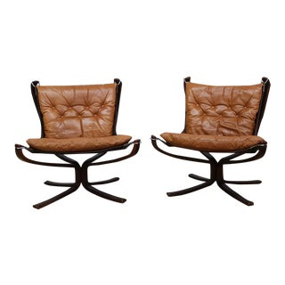 Sigurd Ressell Falcon Lounge Chairs - A Pair