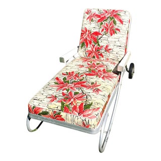 Vintage Bunting Aluminum Chaise Lounge Patio Chair
