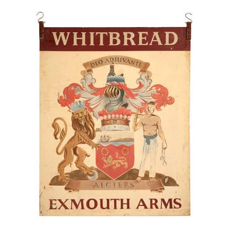 Vintage Exmouth Arms Original English Pub Sign