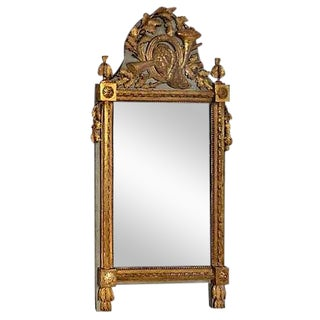 Antique European Carved Gilt-Wood Mirror