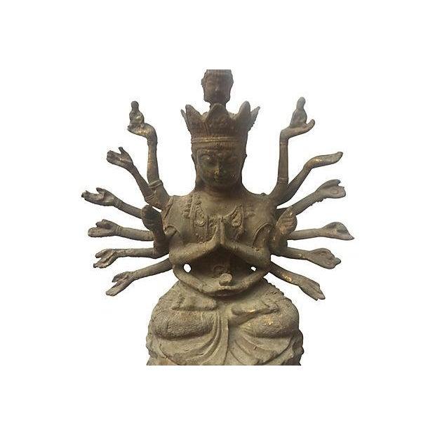 Cast Iron Statue of the Goddess Durga - Image 3 of 6