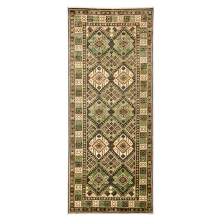 Tribal Style Hand Knotted Area Rug - 4' X 9'5""