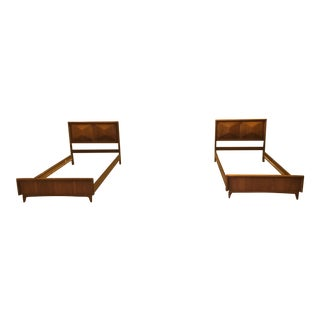 United Diamond Front Twin Bedframes - a Pair - on Hold