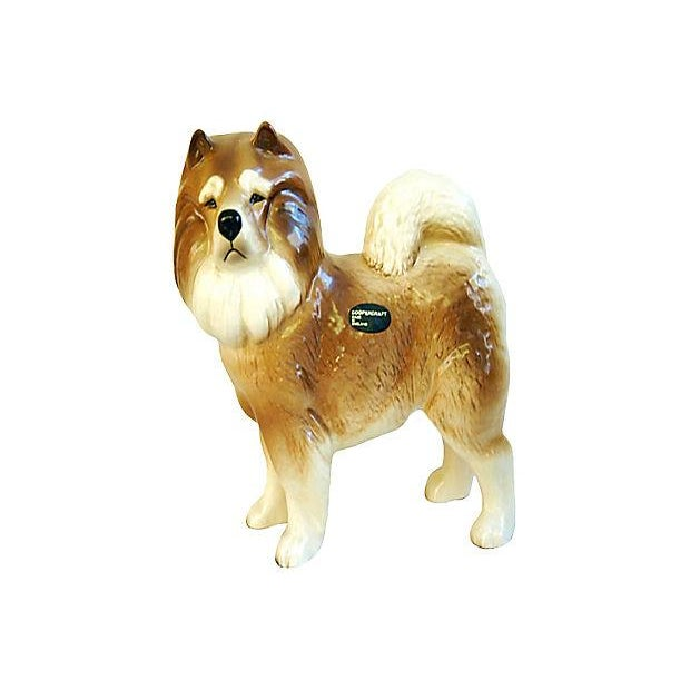 1960s English Coopercraft Husky Dog Figurine - Image 1 of 4