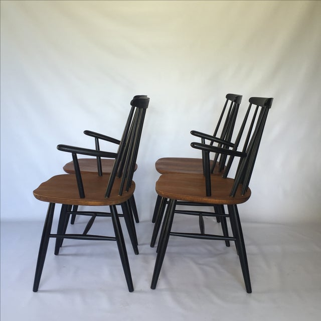 Tapiovaara-Style Dining Chairs - Set of 4 - Image 4 of 6