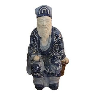 Ceramic Blue & White Chinese Emperor