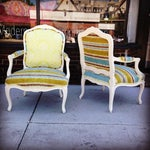 Image of 19th French Bergere Chairs - Pair