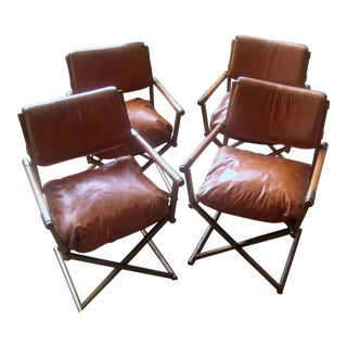 1970's Retro Stuffed Director's Chairs - Set of 4