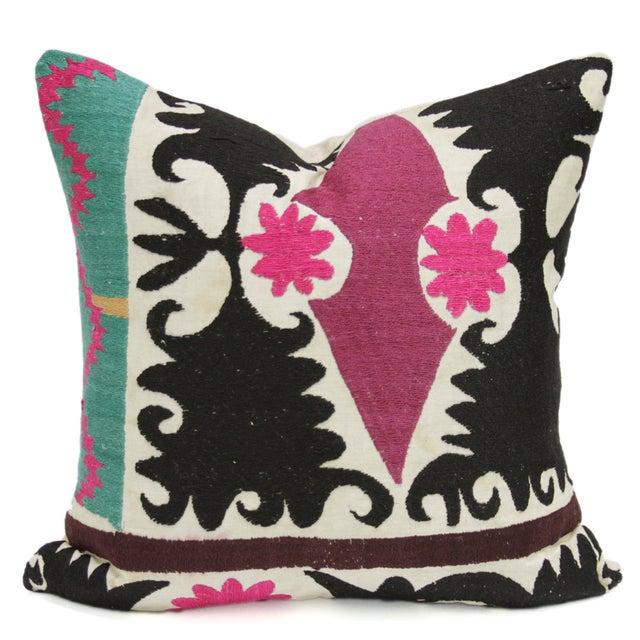 Image of Antique Suzani Fuchsia Pillow