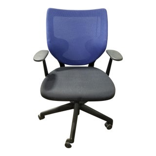 Keilhauer Simple Blue Mesh Office Chair