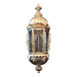 Monumental Mid 19th C Venetian Bronze Doré Lantern