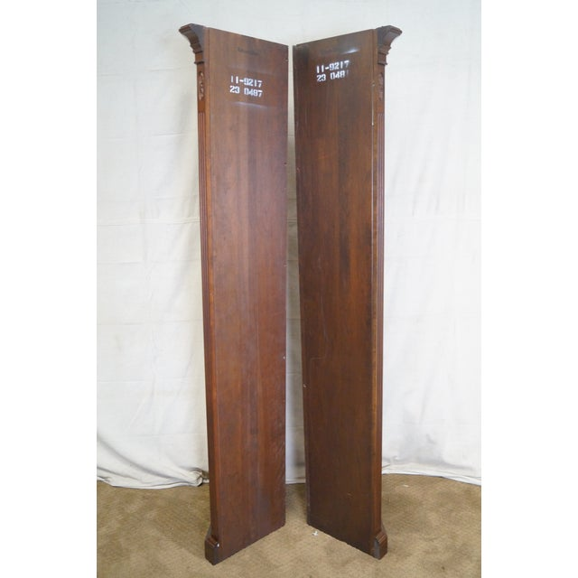 Ethan Allen Georgian Court Solid Cherry Narrow Corner Cabinets - a Pair - Image 3 of 10