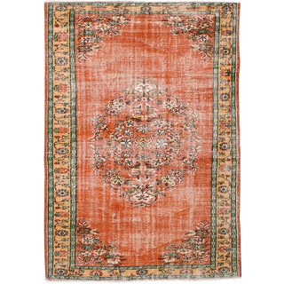 "Vintage Melis Turkish Rug, 6'5"" x 9'4"""