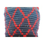 Image of Gray & Red Moroccan Bread Basket