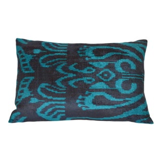 Silk Velvet Pillow, Bleu
