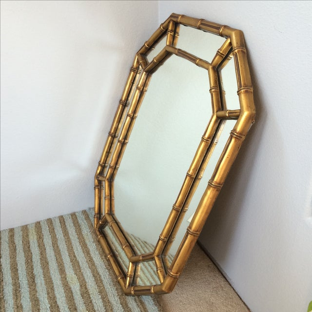 Vintage Gold Bamboo Mirror - Image 2 of 10