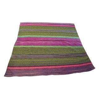 Vintage Wool Stripe Rug - 4′6″ × 4′6″