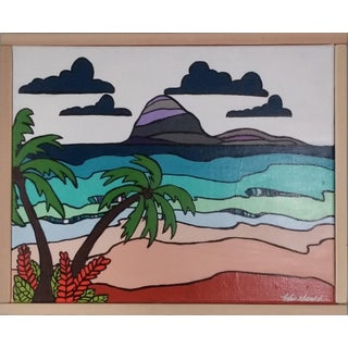 """Island in the Sun"" Original Framed Art by Kris Gould"
