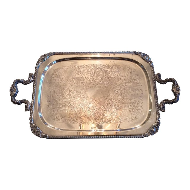 Silverplate Serving Tray - Image 1 of 11