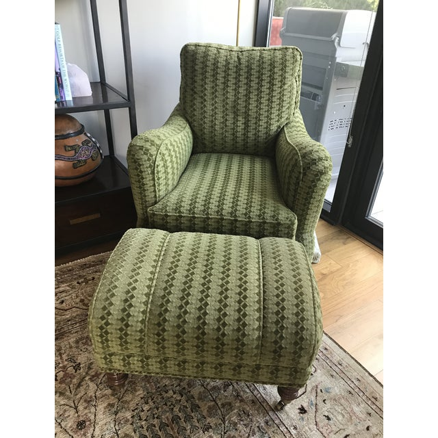 Upholstered Lounge Chairs & Ottoman - Set of 3 - Image 5 of 5