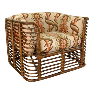 Bamboo Lounge Chair in the Style of McGuire