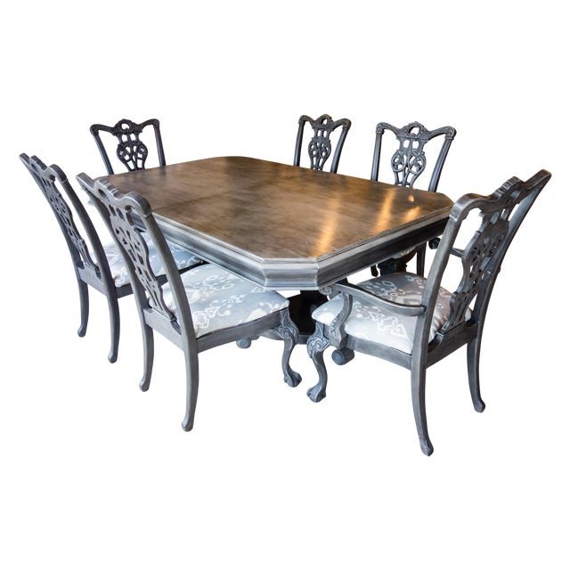 Reproduction Chippendale Dining Set - Image 1 of 11