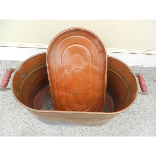 Image of Antique Copper Boiler With Cover