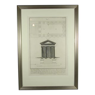 19th Century Antique Architectural Engraving by Piranesi