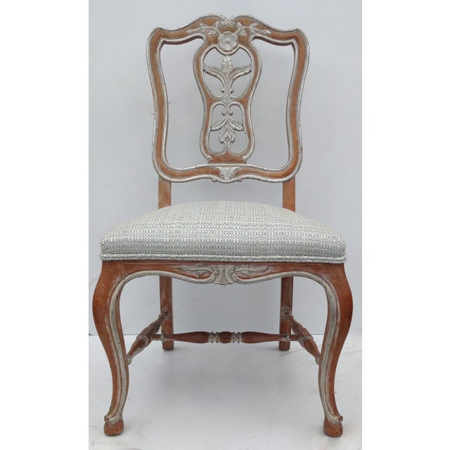 Antique French Parcel Gilt Accent Chair - Image 11 of 11