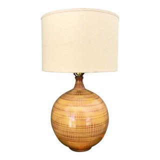 Design Technics Lee Rosen Yellow & Brown Ball Lamp