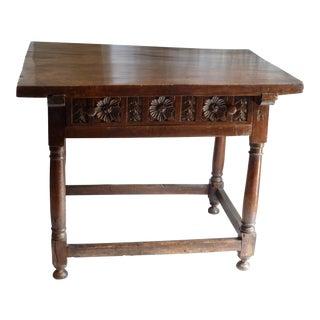 18th C. Rustic Walnut Table