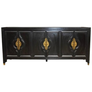 James Mont Black Lacquer Sideboard