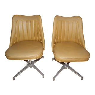 Mid-Century Brody Swivel Office Chairs- A Pair