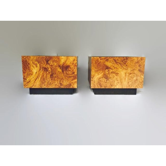 Vintage Burl Wood Cube Tables - A Pair - Image 10 of 10